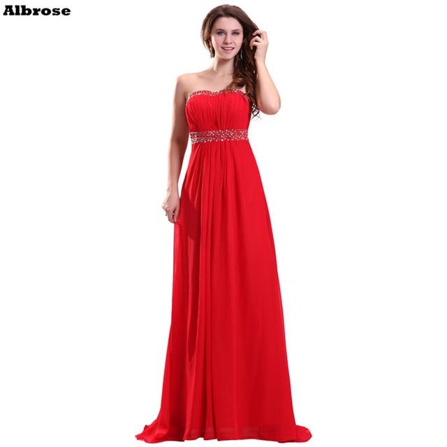 avond jurk rood