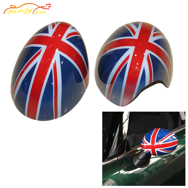 For Mini Cooper F54 F55 F56 Rearview Side Outside Mirror Cover Stickers Cap Shell Accessories Union