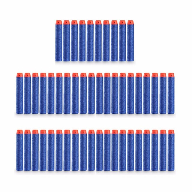 100Pcs for Nerf Soft Toy Gun Bullets Round Head Air Hole Foam Darts Bullet  7.2cm for N-strike Elite Series Blasters Boy Toys