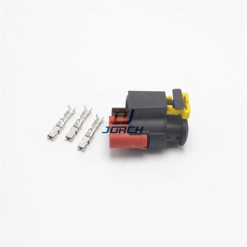 medium resolution of  5sets 3pin tyco auto wire harness sealed sensor connector plug 284425 1 fuel diesel injector