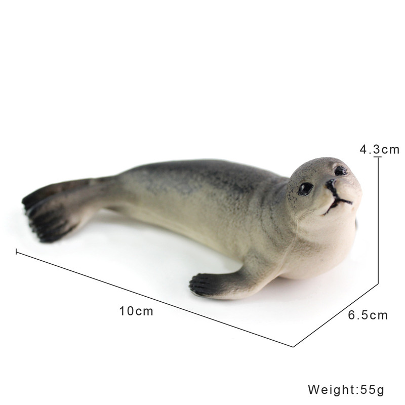 1pc/lot Fur Seals Simulated Animals PVC Mammal Fur Seals Action Figure Collection Model Toys Ocean Animals Education Toys 10cm
