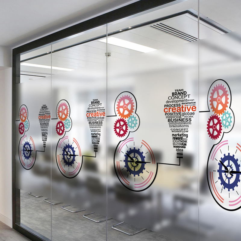 Glass door stickers translucent opaque anti privacy can remove school classroom windows stickers