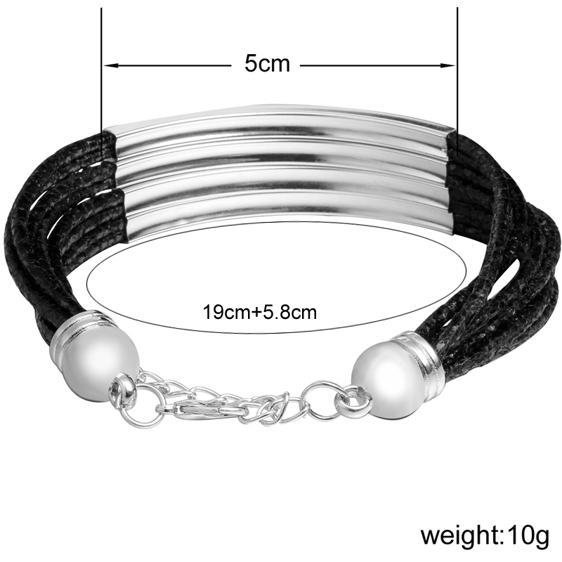 New Multilayer Leather Charm Bracelets For Woman Vintage Silver Pulseira Feminina Fashion DIY Bracelets Bangle Statement Jewelry
