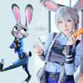 2016 Women Zootopia Judy Hopps Rabbit Costume Uniform 13 PIECES Zootopia Judy Cosplay Costume Halloween Costume For Adult Girls