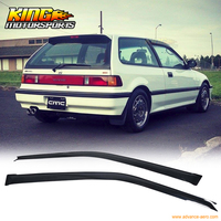 For 88 89 Honda Civic 3Dr Sun Window Visor Dark Smoke 1.6MM Slim Style 2Pcs