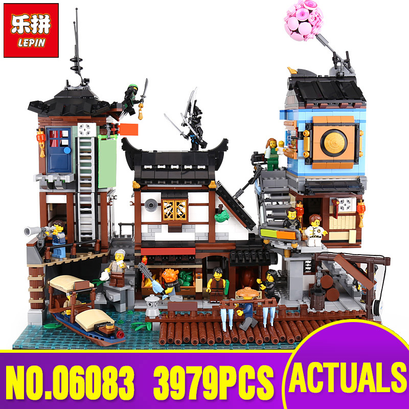Lepin 06083 Building Series The Legoing 70657 City Docks Set Buidling Blocks Bricks New Kids Toys Collectable Toys Gift Model new 1628pcs lepin 07055 genuine series batman movie arkham asylum building blocks bricks toys with 70912 puzzele gift for kids