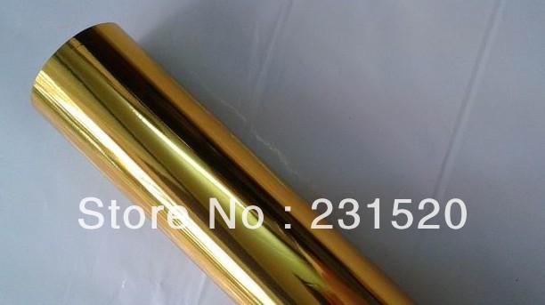 2 rolls Hot foil rolls Silver and Gold Color special for plastic. 64cmx120m/roll
