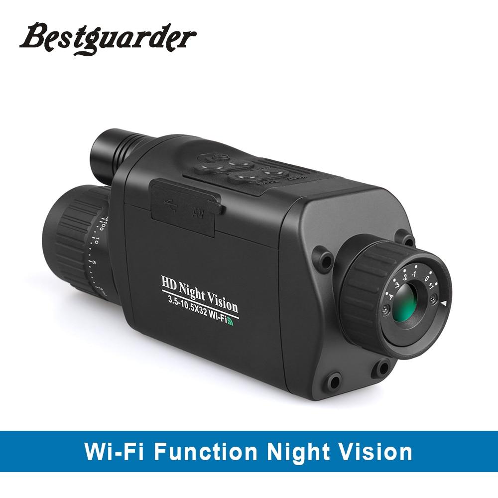 Monóculos para exteriores telescopio binoculares caza WiFi Visión Digital noche 10,5-3,5x32 HD infrarrojo Monocular Envío Directo