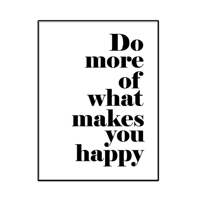 1 Piece Print On Canvas Do More Of What Makes You Happy