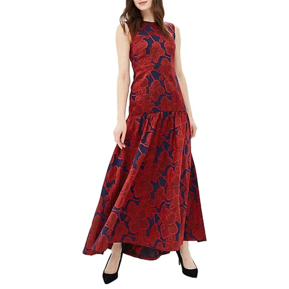 Сезон: весна–лето отдыха цветочный принт длинное платье пикантные вечерние Клубные платья Элегантный 2019 облегающее платье платья Красный