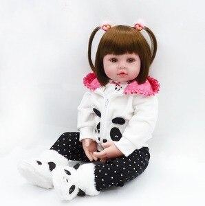 Кукла Bebe reborn 60 см, куклы для маленьких девочек, мягкие силиконовые куклы Boneca reborn Brinquedos, подарки на день детей, игрушки