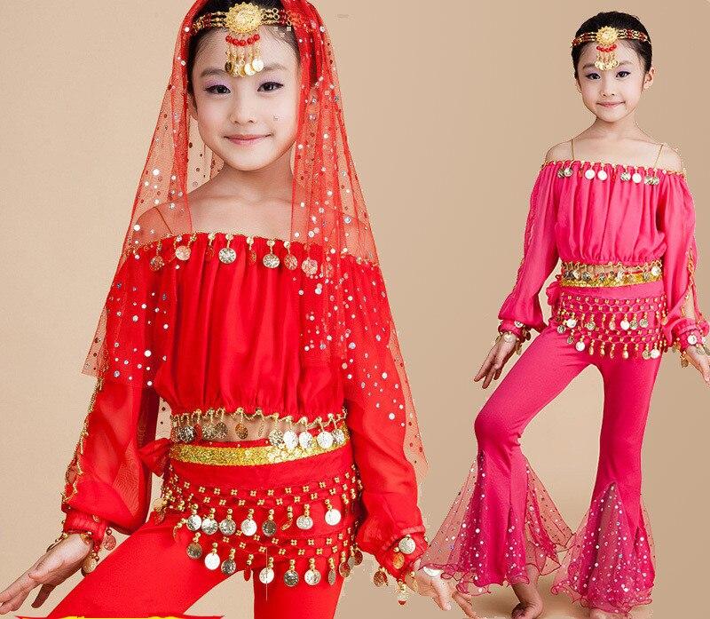Children Belly Dance Costumes Kids Belly Dancing Dress Girls Indian Dance Ballroom Bollywood Dance Clothing For Performance 89