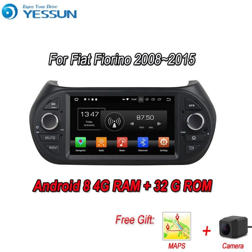 YESSUN Android 8.0 4G RAM pour Fiat Fiorino Qubo voiture Navigation GPS lecteur multimédia lien miroir Radio écran tactile