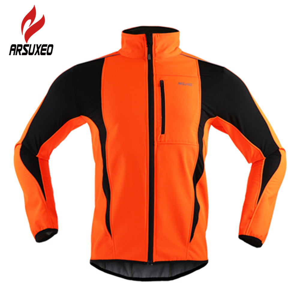 Arsuxeo Veste de cyclisme imperm/éable coupe-vent en Softshell dhiver thermique respirant pour homme 15 K