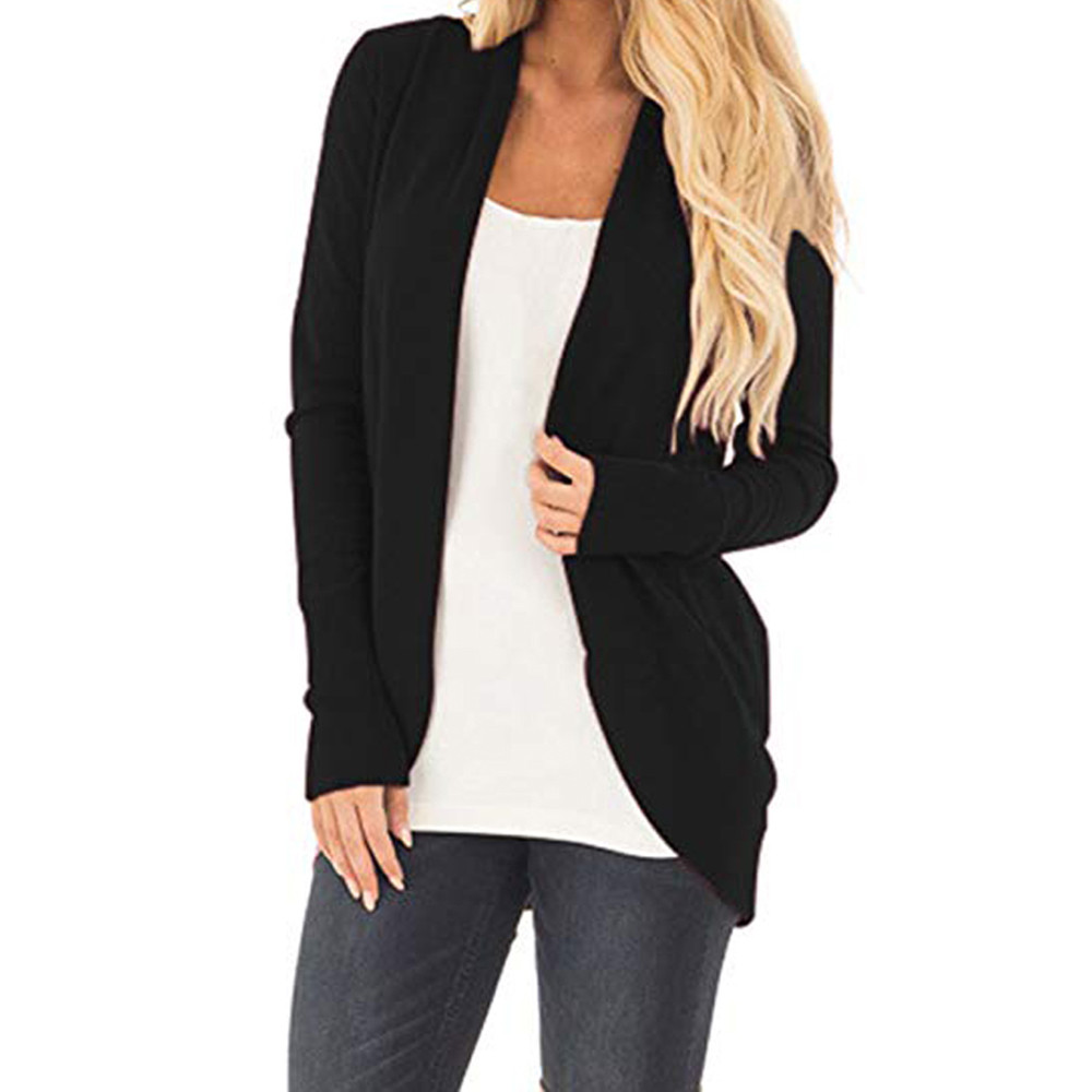 Womens Open Front Fly Away Cardigan Sweater Long Sleeve Plus Pockets Simple  design Loose Drape-in Cardigans from Women s Clothing on Aliexpress.com ... 446d6bfdf