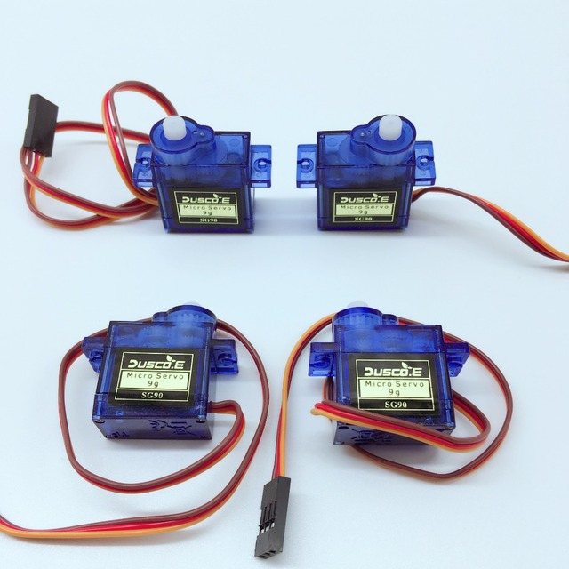 Wholesale 5pcs/lot SG90 9G Micro Servo Motor For Robot 6CH RC Helicopter Airplane Controls For Arduino NUO R3