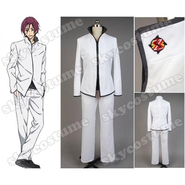 Free! Iwatobi Club Rin Matsuoka Men School Uniform White Coat+Undershirt+Pants Anime Cosplay Costume Full Set free ship gou matsuoka long wine red women style anime cosplay wig one ponytail 370f
