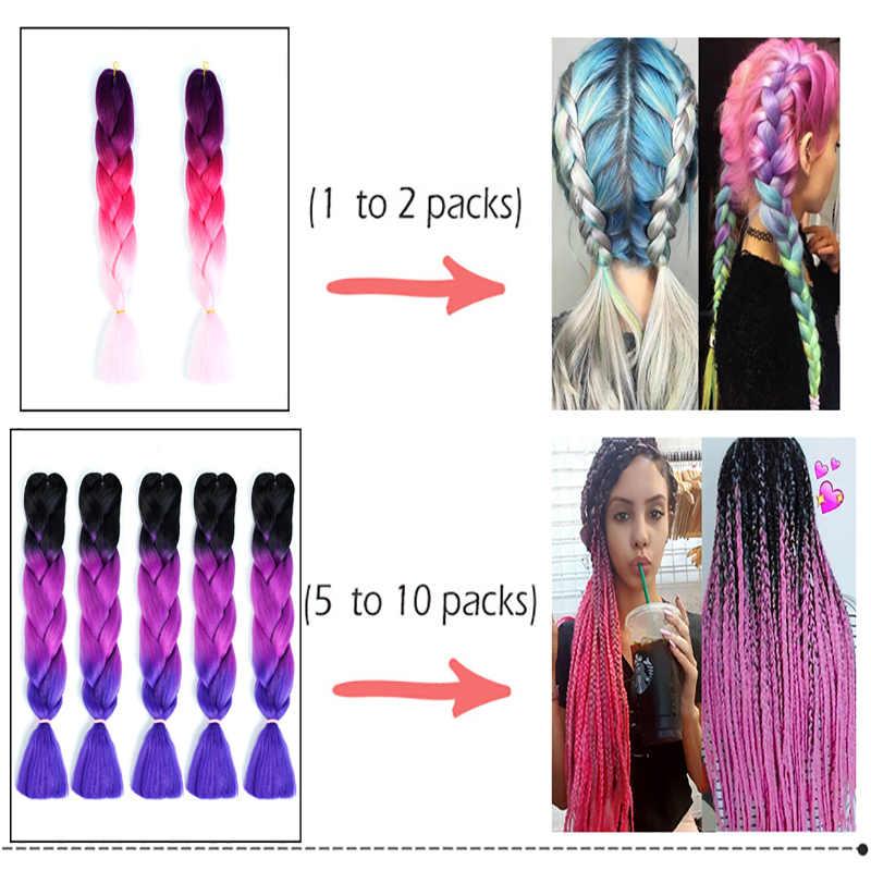 HOUYAN 24 дюймов афро плетение волос Джамбо синтетические плетеные волосы для вязания крючком косы поддельные волосы для наращивания