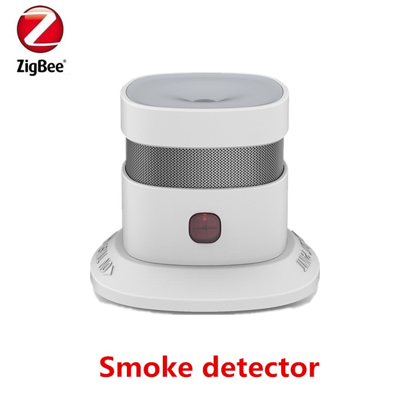 Free shipping Zigbee Smart Smoke detector Wireless Zigbee smart anti-fire alarm smoke sensor with CE ROSH EN14604 approved wireless zigbee smart anti fire alarm smoke sensor smart home sensors