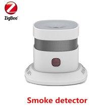 Free shipping Zigbee Smart Smoke detector Wireless Zigbee smart anti-fire alarm smoke sensor with CE ROSH EN14604 approved