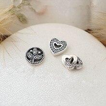 Family Love & Petites Cupieron Pandora Collar de Medallón Flotante Nueva Plata 925 Bijouterie de Moda DIY Fabricación de La Joyería para Las Mujeres
