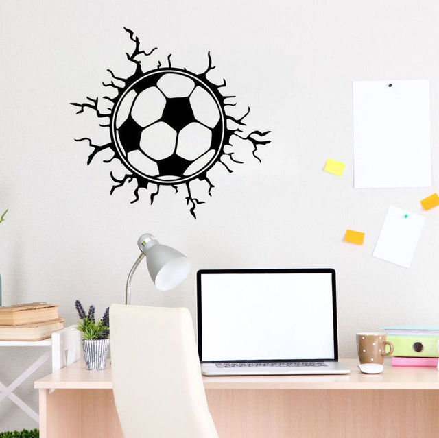 Aliexpresscom Buy Football Type Wall Decor Mural Football Vinyl - Sporting wall decals