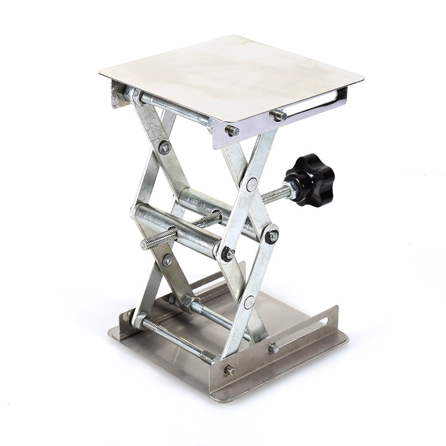 4 x 4 100mm Stainless Steel Lab Stand Lifting Platform Laboratory Tool Laboratory lifting platform lab jack laboratory support jacks 100x100x150mm stainess steel painting lifting table raising platform 4 inch export to europe
