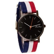 Мужские и женские часы Топ бренд класса люкс унисекс полосатый холст ремешок кварцевые наручные часы бизнес Relogio Masculino Feminino Saat
