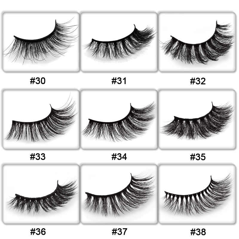 20312b04839 ... 50 pairs natural false eyelashes DIY LOGO makeup fake eyelashes 3D mink  lashes Eyelash wholesale supplier ...