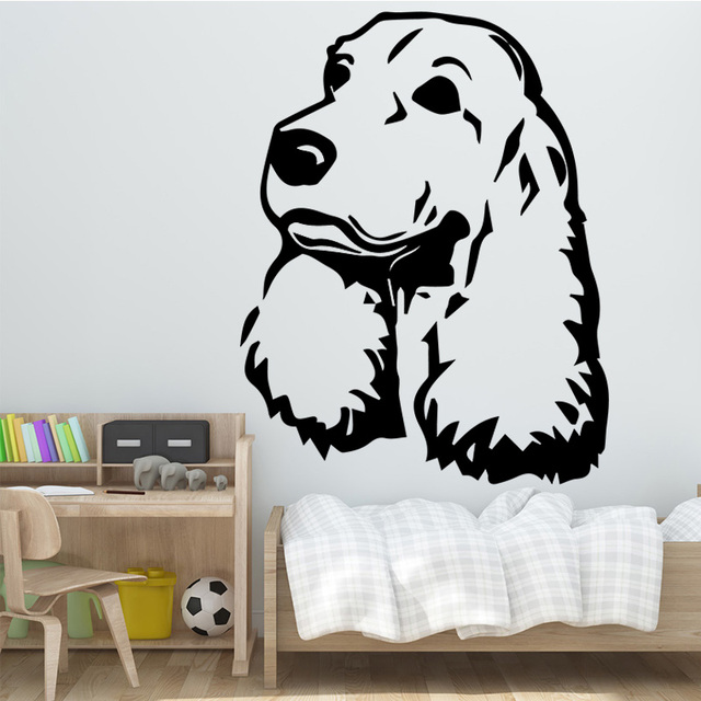 Cute Clever Dog Wall Stickers Wall Decoration Removable Self ...