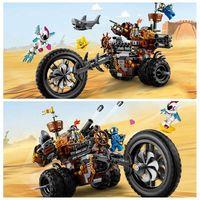 852pcs Metal Beard's Heavy Metal Motor Trike Compatible Legoinglys Movies 2 Series 70834 Building Blocks Bricks Set Toys 45011