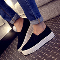 In the spring of 2016 canvas shoes female large base platform shoes female students in higher shoes leisure small white shoes