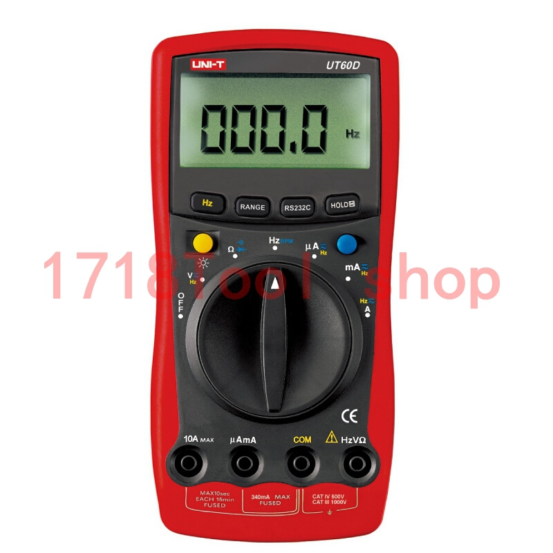 UNI-T UT60D Precise RS-232C Analog Display DMM Digital Multimeters W/ Speed RPM Test LCR Meter Ammeter Multitester uni t ut60b modern auto ranging data hold dmm digital multimeters w capacitance