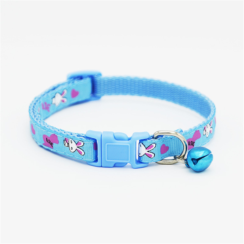 купить 1Pcs Dog Collars Cute Lovely Pets Adjustable Necklace Collar Polyester Fashionable Puppy Pet Collars with Bells Cat Dogs Collars онлайн
