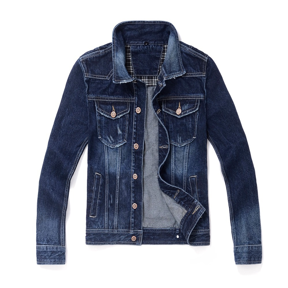 7a19099f5f3c 2015 New Arrival Denim Jacket Men Detachable Hooded Jackets Men Fashion  Cotton Mens Jackets And Coats Dark Blue Jacket-in Jackets from Men s  Clothing on ...