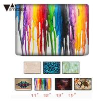 AMZDEAL 3 In 1 Laptop Cover Sticker Elegant Hard PVC Laptop Protector Anti Fouling For Apple