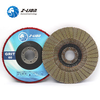 Z LION 5 Inch 1 Piece Diamond Grinding Wheel Flap Sanding Discs For Angle Grinder Stone