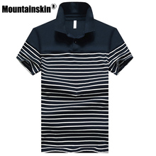 Mountainskin 2019 Striped Men's Shirts 4XL Cotton Short Sleeve Camisas Tops Men Brand Clothes Summer Male Shirt SA329