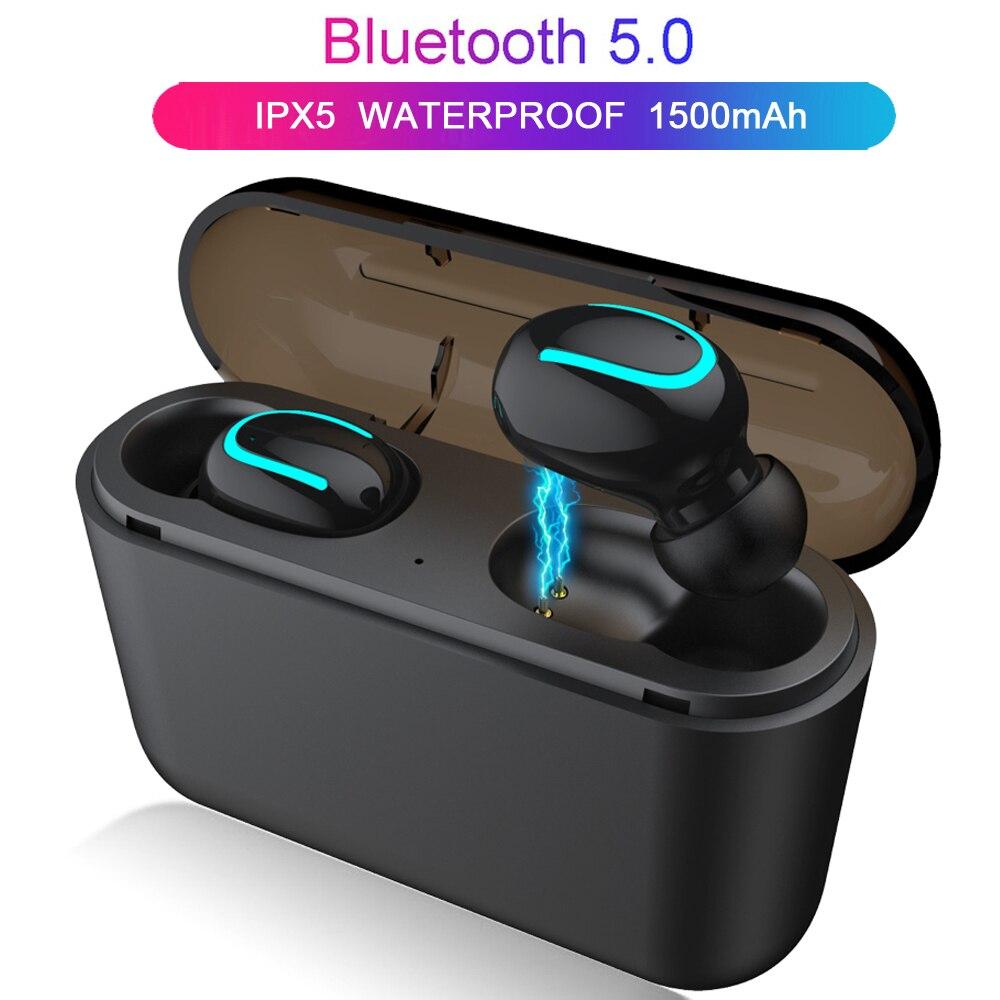 Auricular inalámbrico últimas inalámbrico Bluetooth 5,0 auriculares Bluetooth estéreo inalámbrico de sonido auriculares con micrófono caja de carga