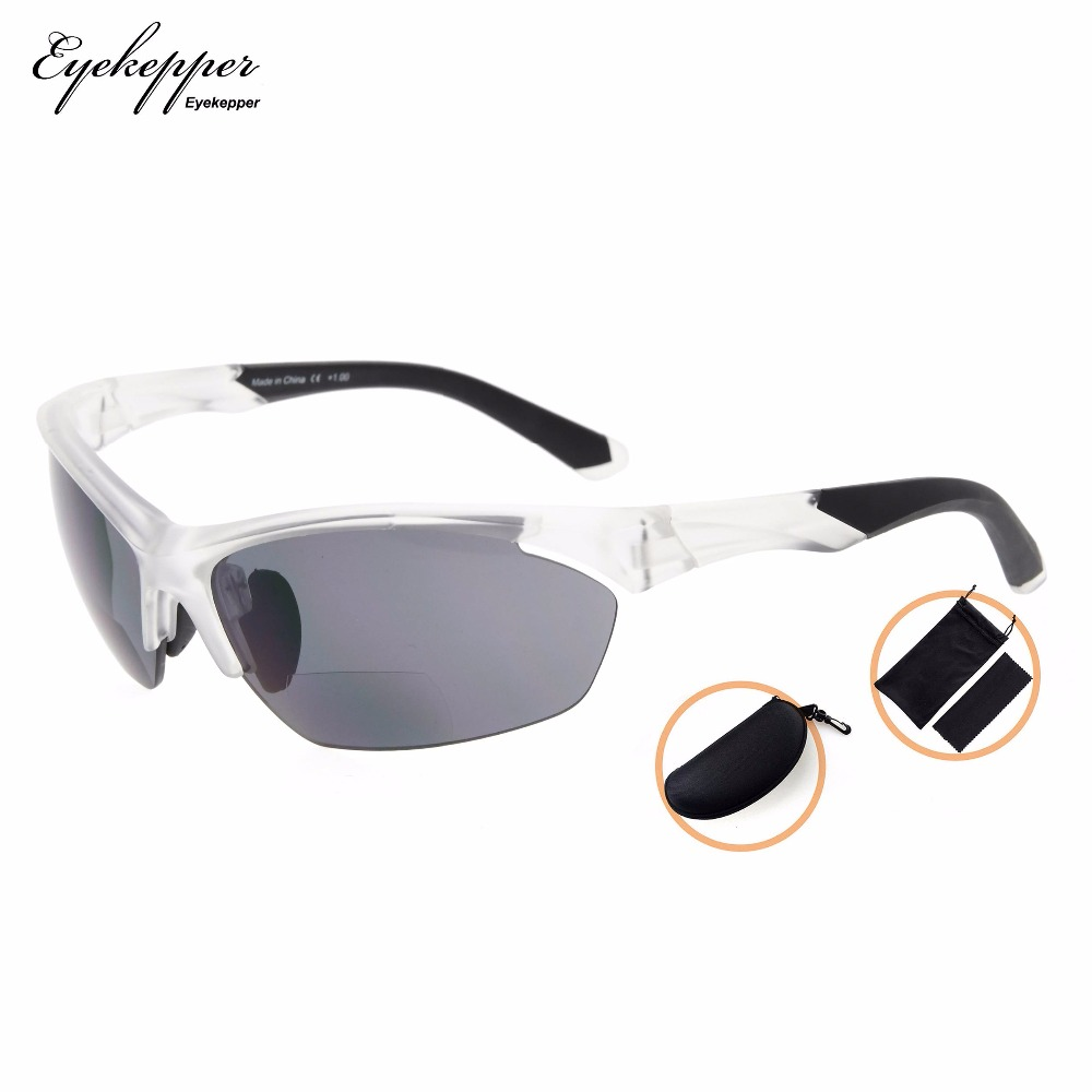 7a6aeb5855 SG902Eyekepper TR90 deportes gafas de sol Bifocal de béisbol corriendo  pescar conducir Golf de senderismo sin montura de gafas de lectura en Gafas  de ...