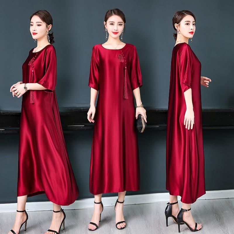 Nouveau design été femme élégante robe Tang costume haut long Vintage Cheongsams style femmes chinois traditionnel vêtements