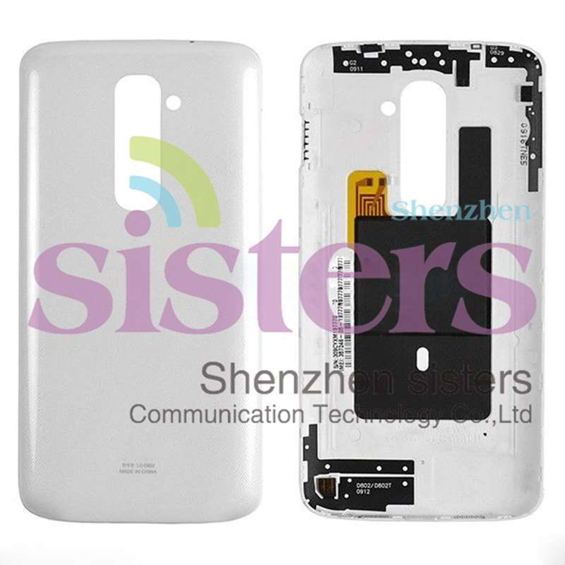 2Pcs Wholesale Original white /Black/Gold New Rear Back <font><b>Battery</b></font> Cover Door Housing With NFC For LG G2 <font><b>D802</b></font> Free Spipping