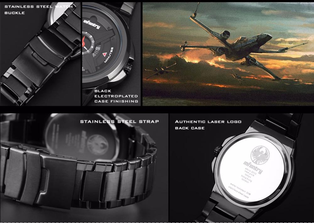 Topdudes.com - INFANTRY Top Men's Luxury Military Fashion Bracelet Relogio Masculino Wristwatch