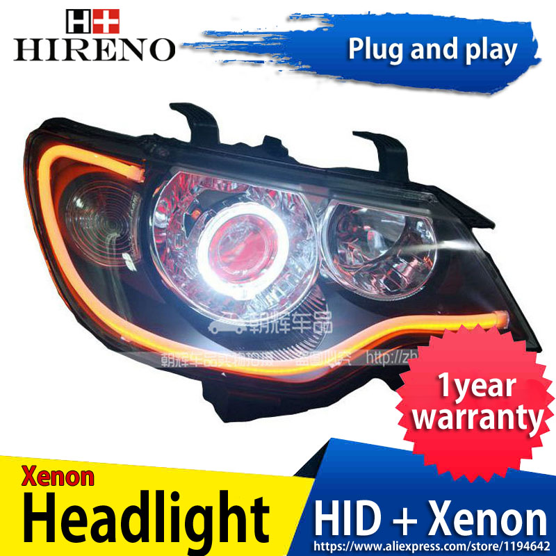 Car custom Modified Xenon Headlamp for Citroen C-Elysee 2008-13 Headlights Assembly Car styling Angel Lens HID 2pcs hireno headlamp for mercedes benz w163 ml320 ml280 ml350 ml430 headlight assembly led drl angel lens double beam hid xenon 2pcs