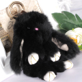 ZOSHI Rex Rabbit Fur Keychain Cute Rabbit Doll Key Chain Pendant 10 Colors Wallet Pom Pom Car Pendant Keyrings For Best Friends