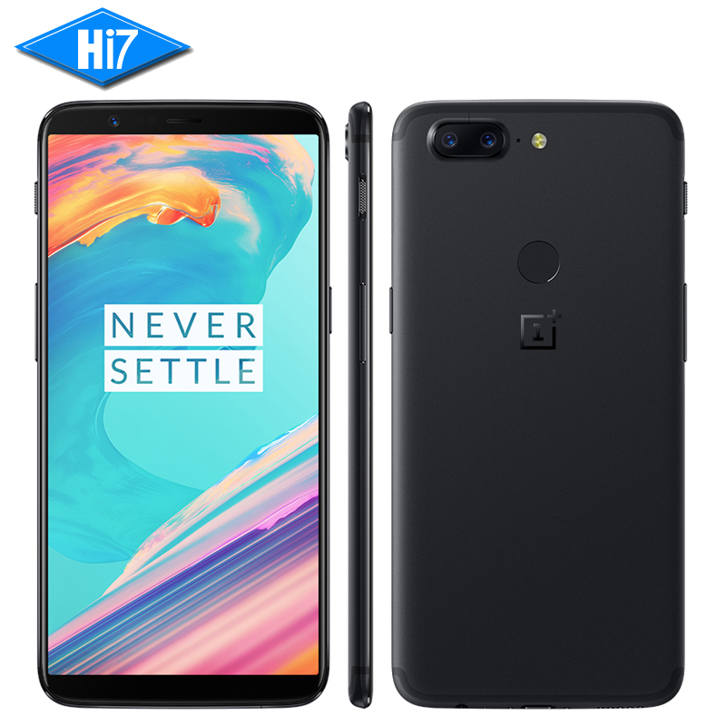 "OnePlus 5T 5 T 6GB 64GB Snapdragon 835 Octa Core 6.01"" 1080x2160P 18:9 20.0MP 16MP Fingerprint ID OxygenOS Android Mobile Phone"