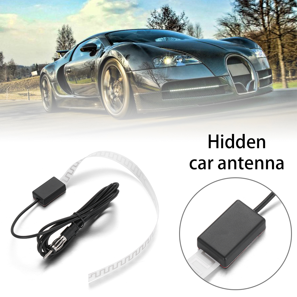 Universal Car Auto Hidden Amplified Antenna 12V Electronic Stereo AM//FM Radio LC