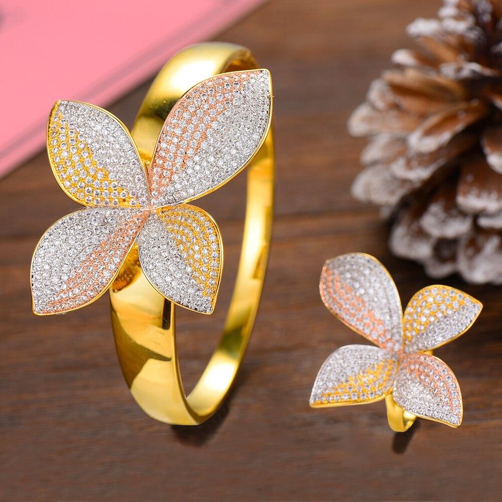 Missvikki fait à la main exclusif marque de mode charme bracelet bague bijoux ensemble pour femmes dames accessoires complet Top cubique zircone