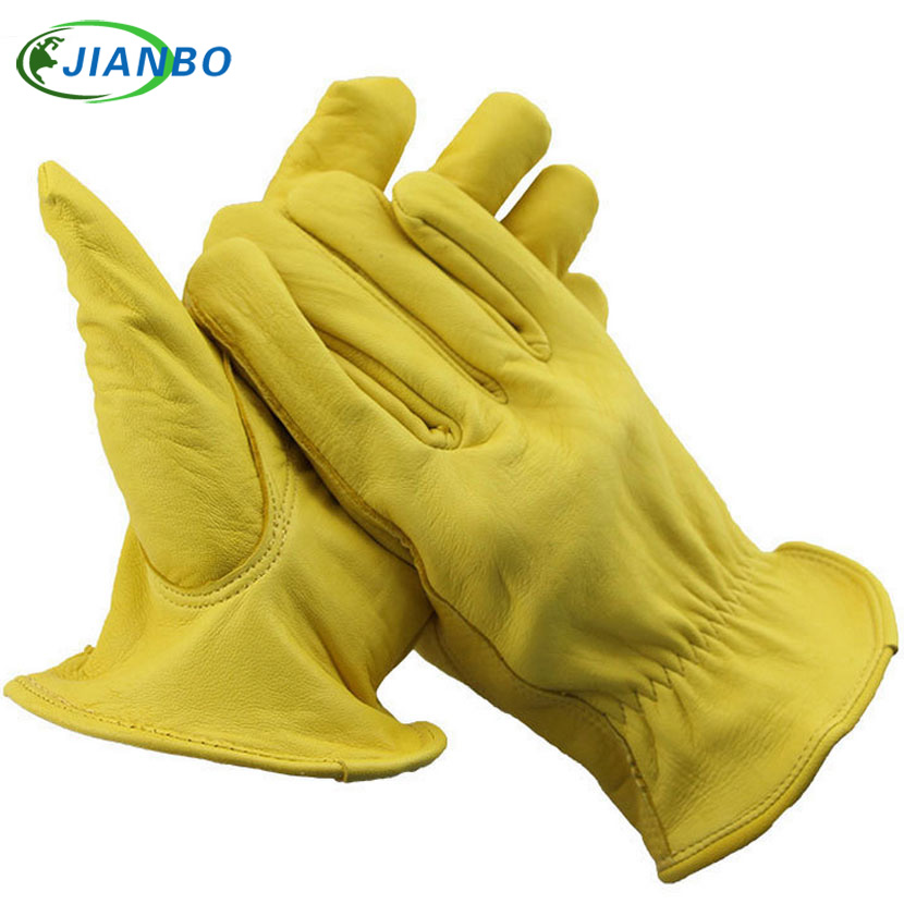 Mechanics Work Gloves Waterproof Safety Garden Gloves Leather Welding Protective For Glass Handling Shop Floor Operations