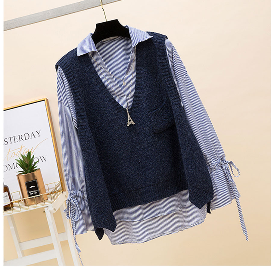 Sleeveless Knitted Sweater Women Winter Short Retro V-Neck Vest Sweaters Casual Spring Autumn Pullover Coat Female Vest Sexy Top
